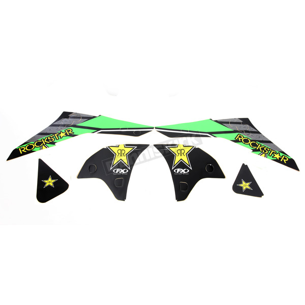 Factory Effex Green Kawasaki FX Rockstar Energy Shroud Graphic Kit - 19-14122