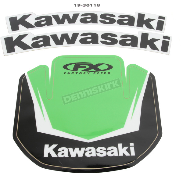 Factory Effex Kawasaki Front Fender Graphic Kit - 19-30118