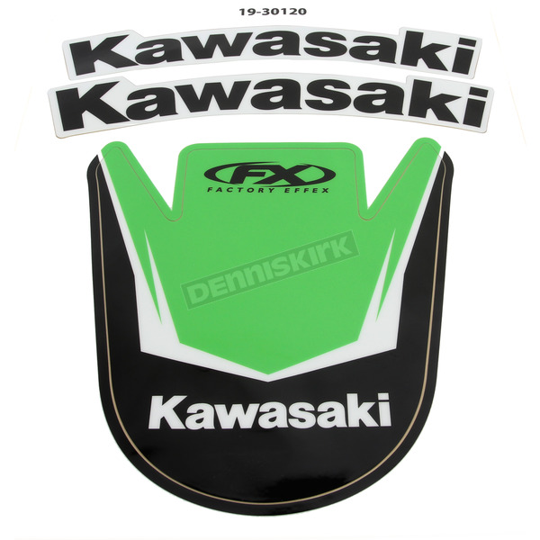 Factory Effex Kawasaki Front Fender Graphic Kit - 19-30120