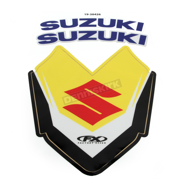 Factory Effex Suzuki Front Fender Graphic Kit - 19-30426