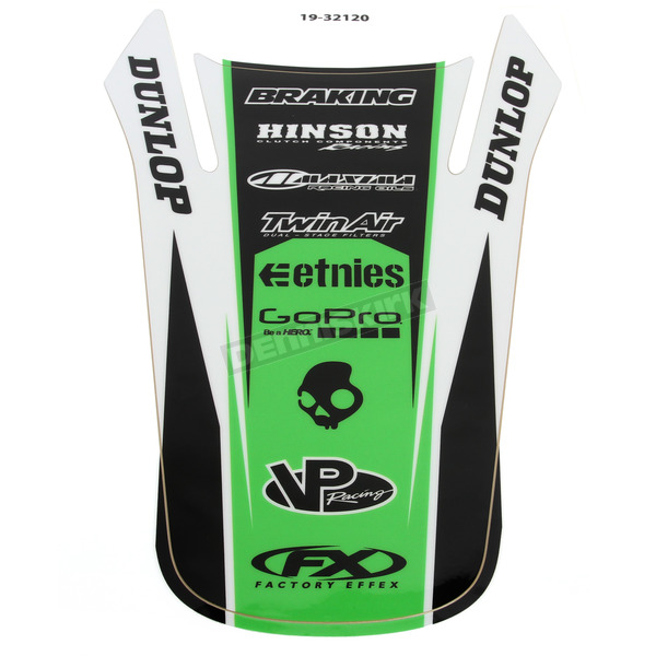 Factory Effex Kawasaki Rear Fender Graphic Kit - 19-32120