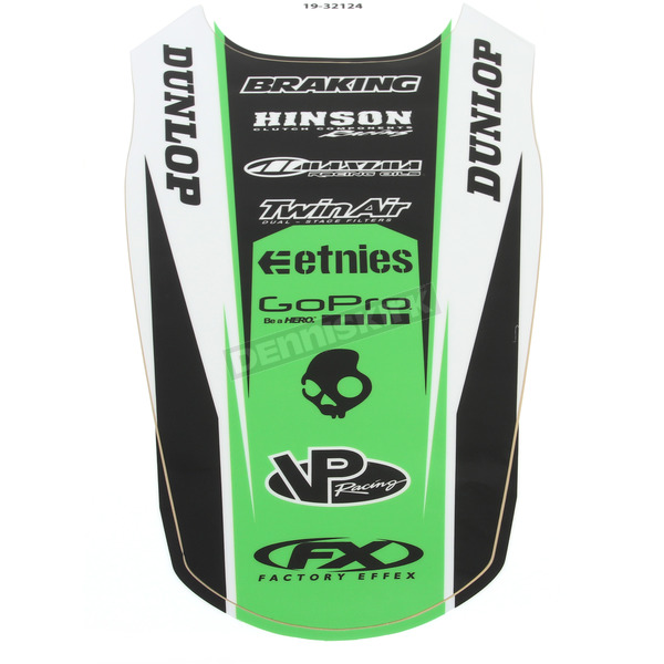 Factory Effex Kawasaki Rear Fender Graphic Kit - 19-32124