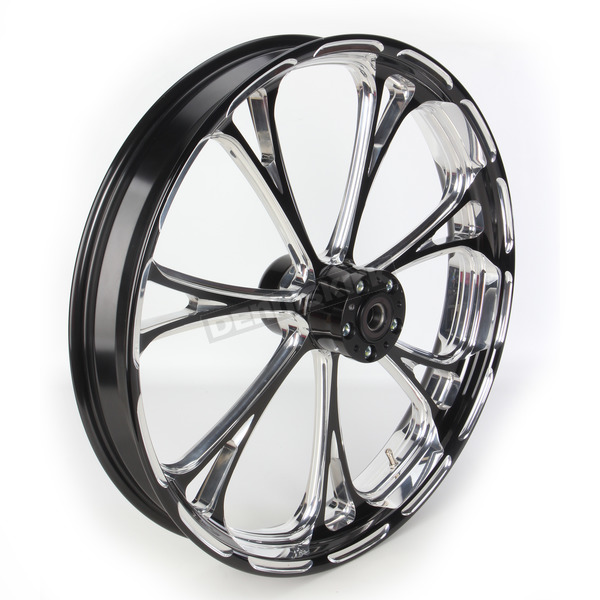 Performance Machine Front Platinum Cut 23 x 3.5 Virtue One-Piece Chrome-Forged Aluminum Wheel - 12237306PVIRBMP