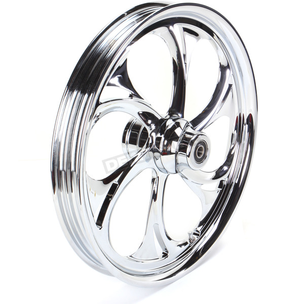 RC Components 21 in. x 2.15 in. Front Chrome Recoil One-Piece Forged Aluminum Wheel - 21215-9013-105C