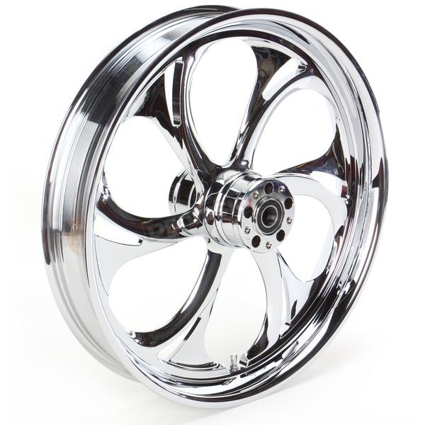 RC Components 21 in. x 3.5 in. Front Chrome Recoil One-Piece Forged Aluminum Wheel - 21350-9017-105C