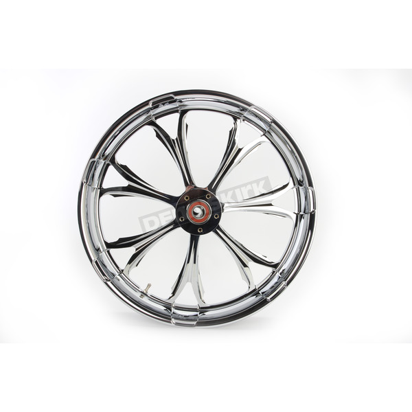 Performance Machine Front Chrome 21 x 3.5 Paramount One-Piece Chrome-Forged Aluminum Wheel - 12047106PARJCH