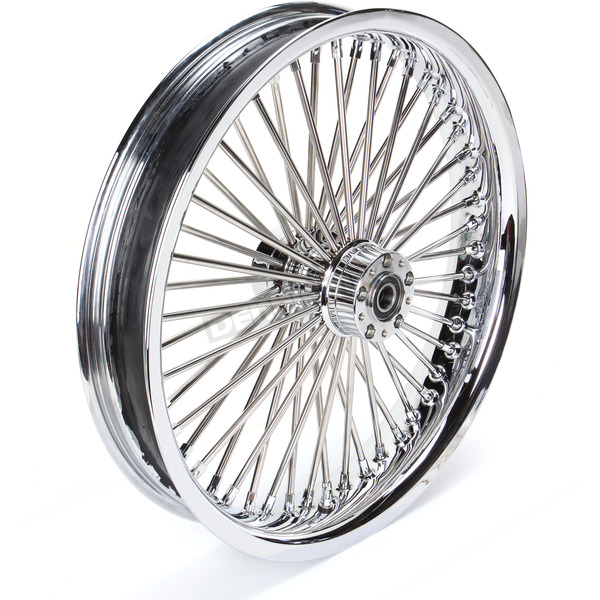 Drag Specialties Chrome 23 x 3.75 Radial Laced 50-Spoke Wheel Assembly for Dual Disc - 0203-0561