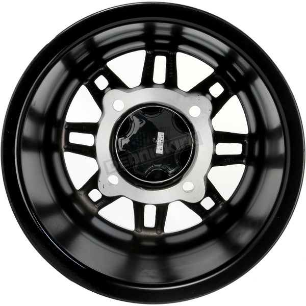ITP Matte Black 12 in. X 7 in. SS216 Alloy Black Ops Wheel - 1228538536B