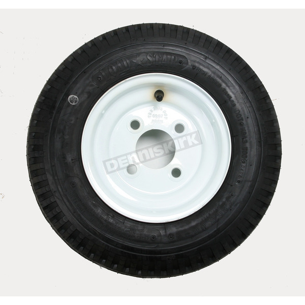 Kenda K371 4-Ply 4.80/4.00-8 Tire W/4-Hole Solid Wheel Assembly - 30000