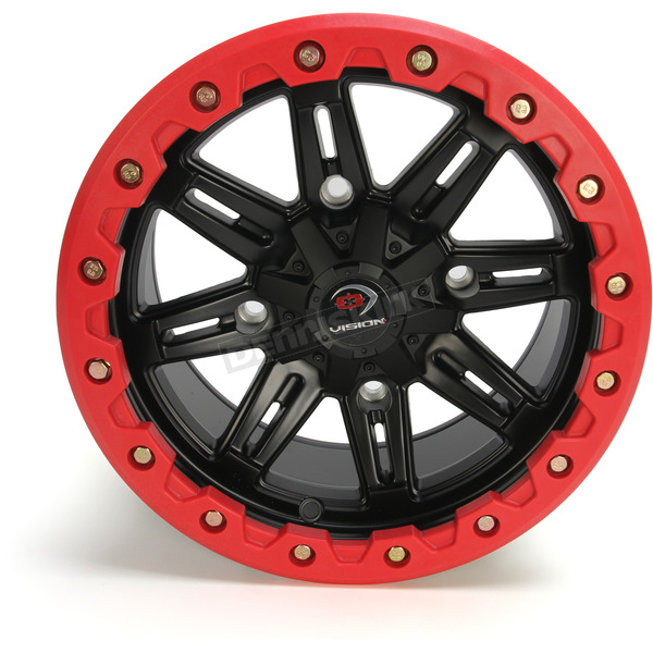 Front Black/Red Five-Fifty One - 551 14x7 Wheel - 551-147156MBR4