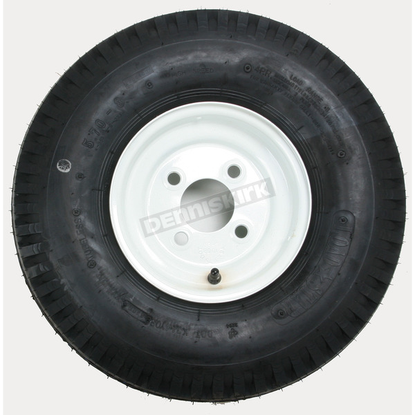 K353 4-Ply 5.70-8 Tire W/4-Hole Solid Wheel Assembly - 30080