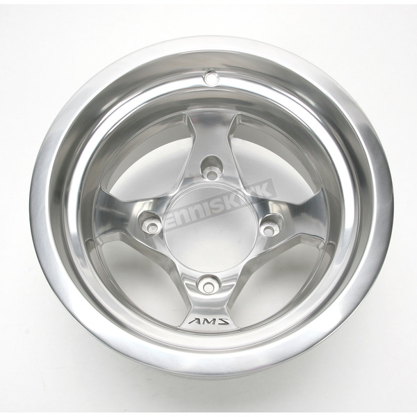 AMS Front/Rear Polished Cast Aluminum Utility ATV 12x7 Wheel - 02300039