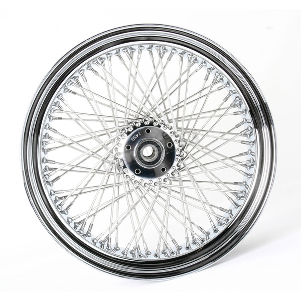 Drag Specialties Chrome 18 x 5.5 80-Spoke Laced Wheel Assembly - 0204-0226