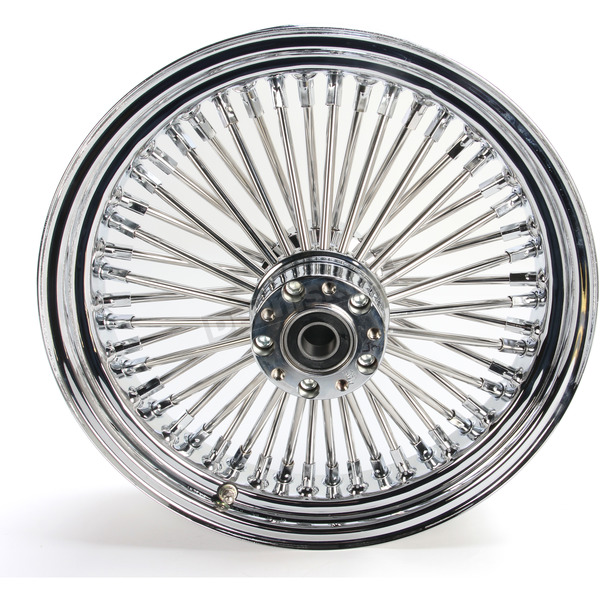 Drag Specialties Chrome 16 x 3.5 Fat Daddy 50-Spoke Radially Laced Wheel for Dual Disc - 0203-0250