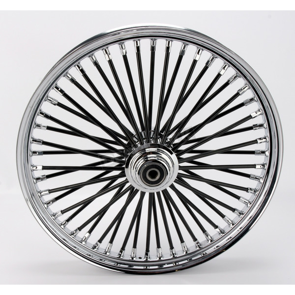 Drag Specialties Black 21 x 2.15 Fat Daddy 50-Spoke Radially Laced Wheel for Single Disc - 0203-0352
