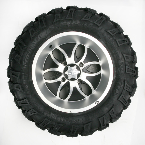 ITP Front Left Bajacross 26x10x14 Tire w/Machined System 6 Wheel - 44320L