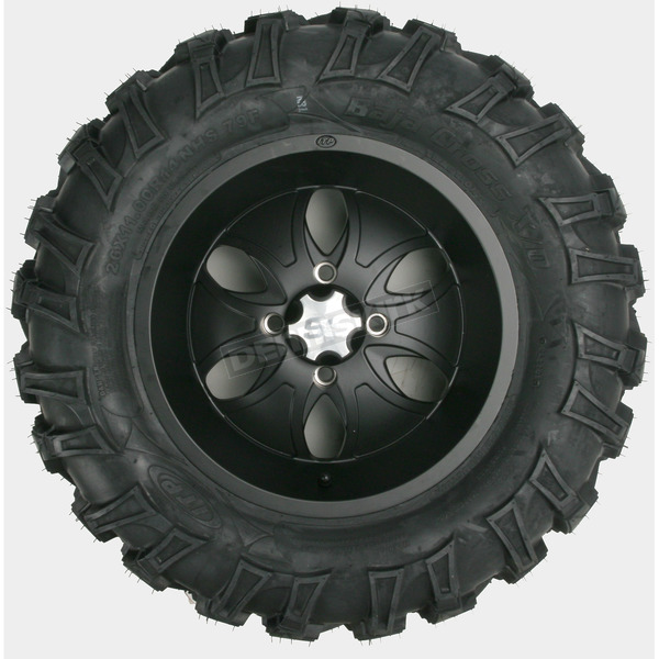 ITP Rear Left Bajacross 26x11x14 Tire w/Black System 6 Wheel - 44327L