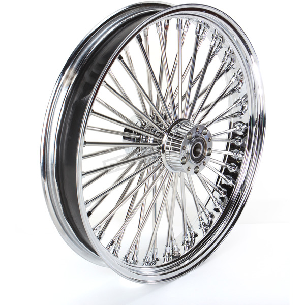 Drag Specialties Chrome 21 x 3.5 Fat Daddy 50-Spoke Radially Laced Wheel for Dual Disc - 0203-0385