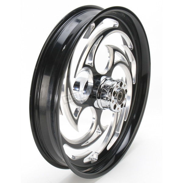 RC Components Black 21 x 3.5 Savage Eclipse One-Piece Wheel for Single Disc  Models w/o ABS - 21350-9032-85E