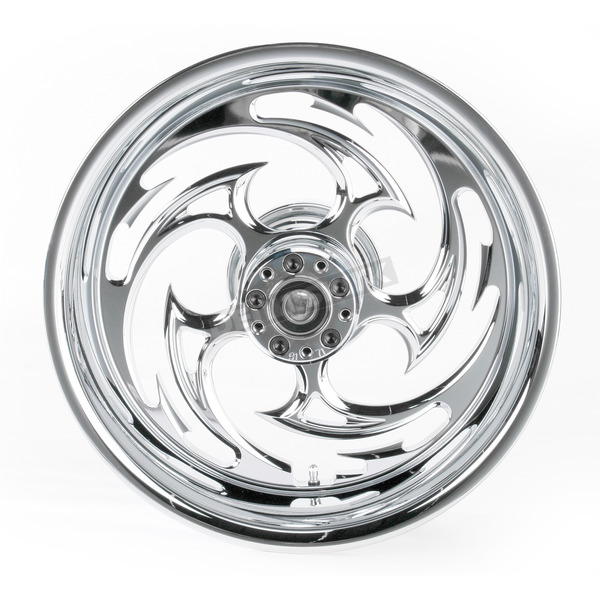 RC Components Rear Chrome 17 x 6.25 Savage One-Piece Wheel for OEM Pulley - 17625-9210-85C