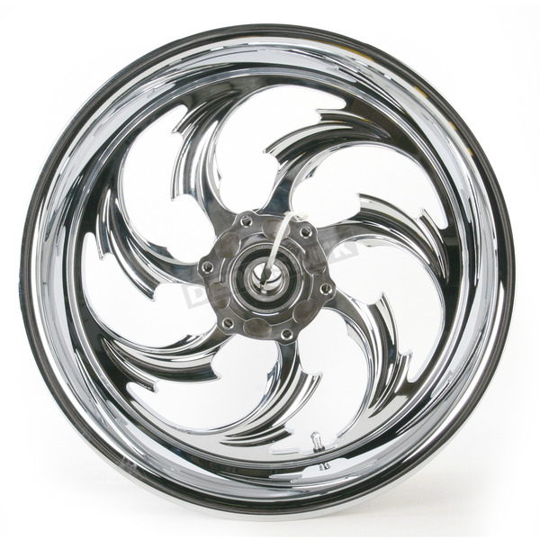 RC Components Rear Chrome 17 x 6.25 Assault One-Piece Forged Wheel - 0317625-938995C