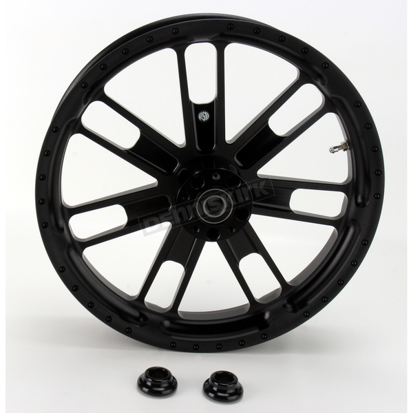 Roland Sands Design 23 in. x 3.5 in. Slam One-Piece Black Ops Aluminum Wheel for Models w/o ABS - 12027306RSLMSMB