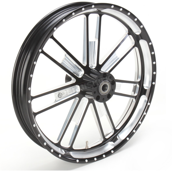 Roland Sands Design 21 in. x 3.5 in. Slam One-Piece Contrast-Cut Aluminum Wheel - 12047106RSLMBM