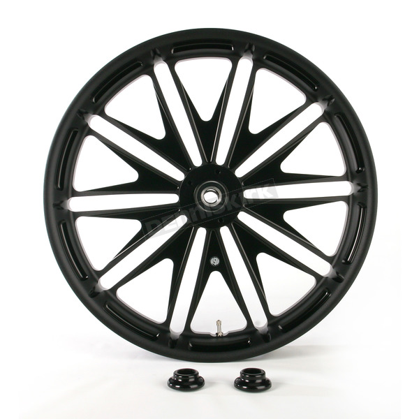 Roland Sands Design 23 in. x 3.5 in. Boss One-Piece Black Ops Aluminum Wheel  - 12017306RBSSSMB