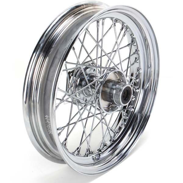 Drag Specialties Chrome Front 16 x 3 40-Spoke Laced Wheel Assembly  - 0203-0408