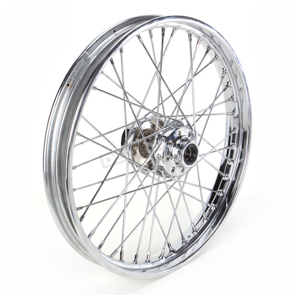 Chrome Front 21 x 2.15 40-Spoke Laced Wheel Assembly  - 0203-0411
