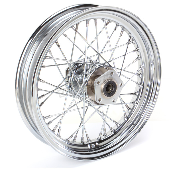 Drag Specialties Chrome Front/Rear 16 x 3 40-Spoke Laced Wheel Assembly  - 0203-0420
