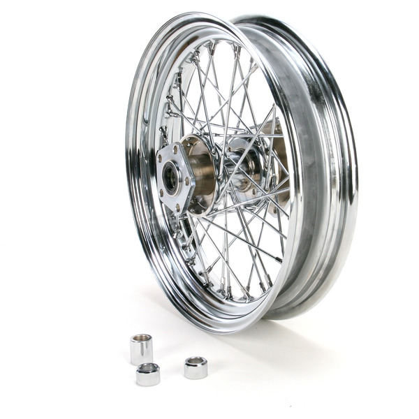 Drag Specialties Chrome Rear 16 x 3 40-Spoke Laced Wheel Assembly  - 0204-0369