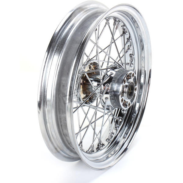 Drag Specialties Chrome Rear 16 x 3 40-Spoke Laced Wheel Assembly  - 0204-0372