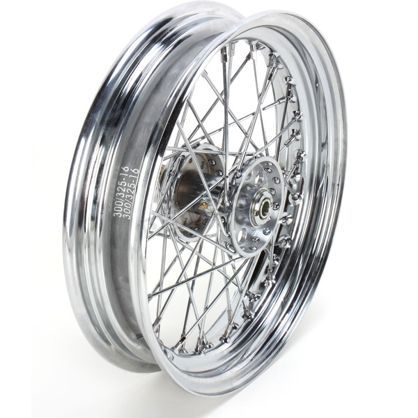 Drag Specialties Chrome Rear 16 x 3 40-Spoke Laced Wheel Assembly  - 0204-0373