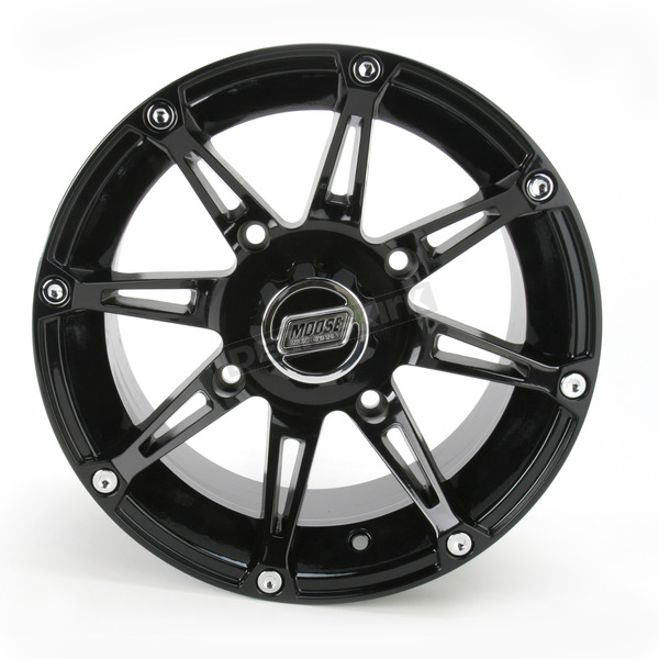Moose Gloss Black Type 387X Wheel - 0230-0463