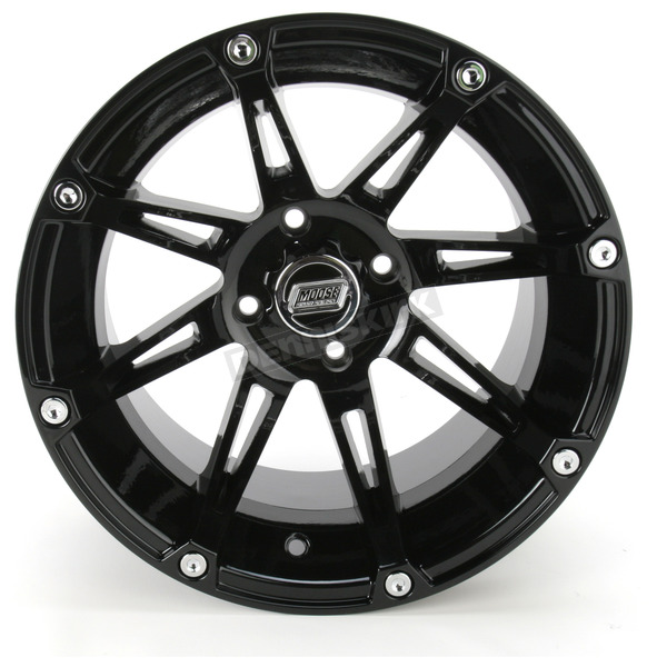 Moose Gloss Black Type 387X Wheel - 0230-0467