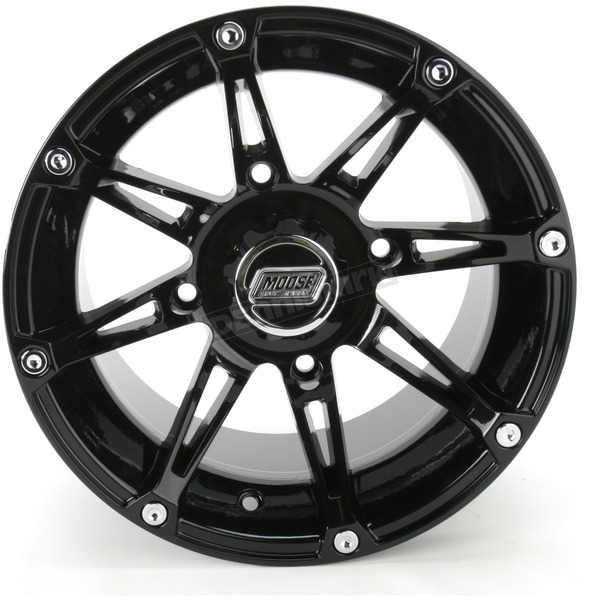 Moose Gloss Black Type 387X Wheel - 0230-0468