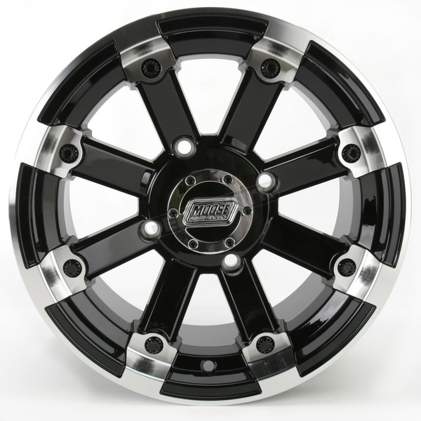 Moose Black 393X Cast Aluminum ATV/UTV Wheel - 0230-0526