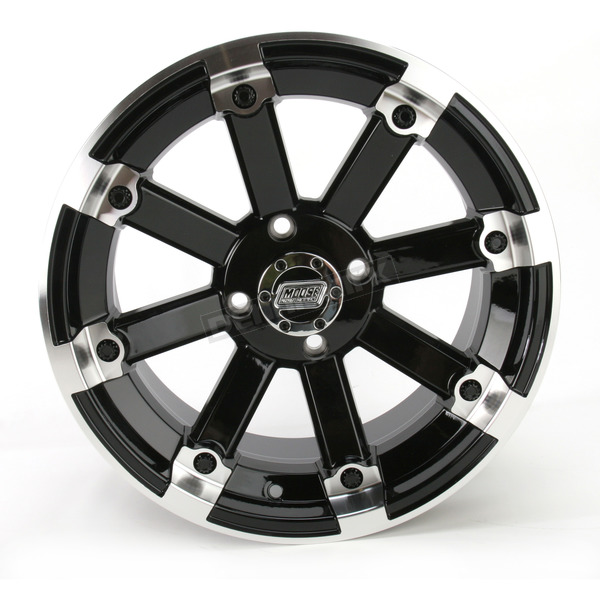 Moose Black 393X Cast Aluminum ATV/UTV Wheel - 0230-0535