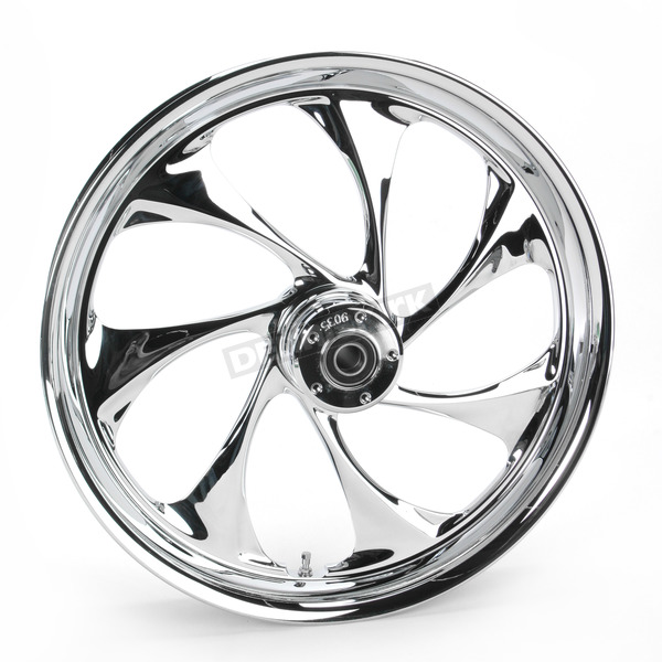 RC Components Front 21 in. x 3.5 in. Drifter One-Piece Forged Aluminum Chrome Wheel - 21350-9917-101C