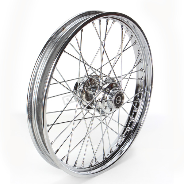 Drag Specialties Front Chrome 21x2.15 40-Spoke Laced Wheel Assembly - 0203-0528