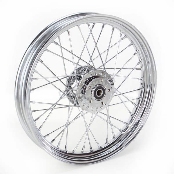 Drag Specialties Front Chrome 19x2.5 40-Spoke Laced Wheel Assembly - 0203-0530