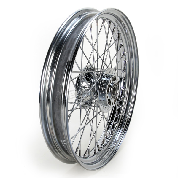 Drag Specialties Front Chrome 19x2.5 40-Spoke Laced Wheel Assembly - 0203-0531