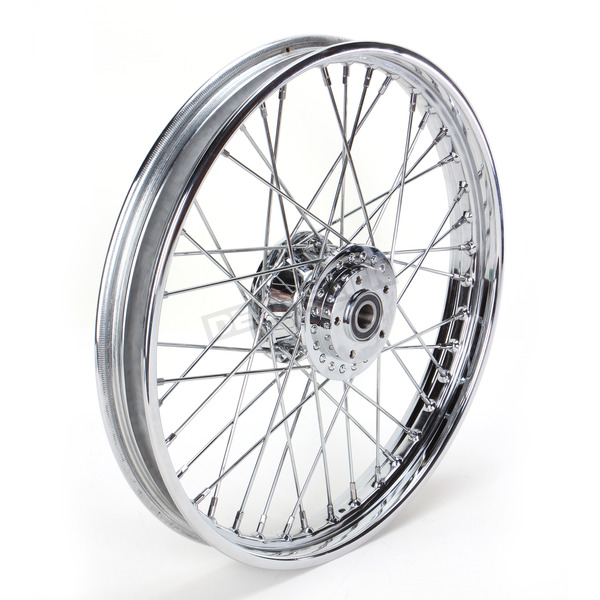 Drag Specialties Front Chrome 21x2.15 40-Spoke Laced Wheel Assembly - 0203-0533