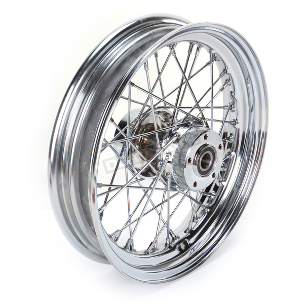 Drag Specialties Front Chrome 16x3 40-Spoke Laced Wheel Assembly - 0203-0534