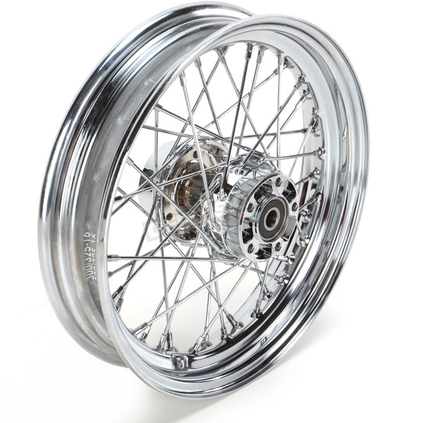Drag Specialties Rear Chrome 16x3 40-Spoke Laced Wheel Assembly - 0204-0423