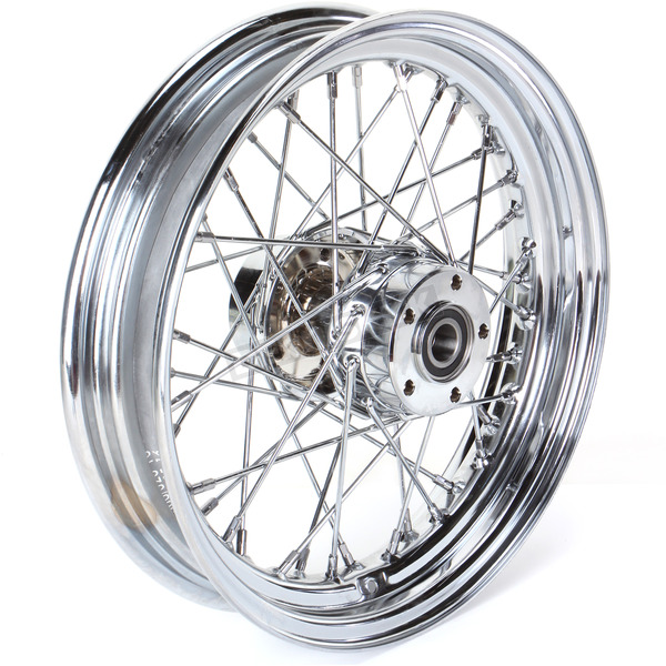 Drag Specialties Rear Chrome 16x3 40-Spoke Laced Wheel Assembly - 0204-0424