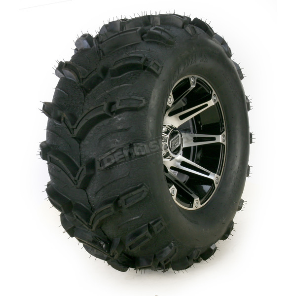 Moose Machined Black 387X Tire/Wheel Kit - 0331-1155
