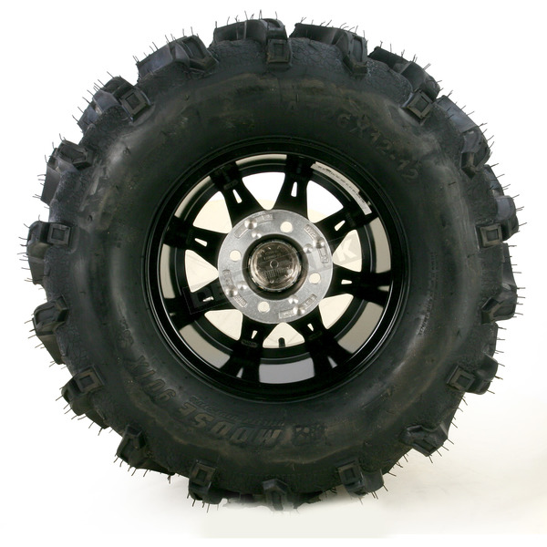 Moose Machined Black 387X Tire/Wheel Kit - 0331-1162