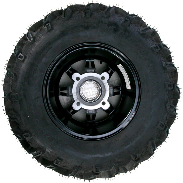 Moose Front Left Gloss Black 387X Tire/Wheel Kit - 0331-1167